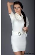 Белоснежное недорогое платье Yiky Fashion | 8028