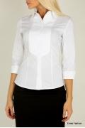 Белая женская рубашка Emka Fashion B1822-optik