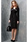 Черное платье на молнии TopDesign B3 008