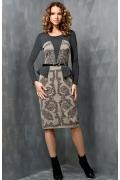 Стильное платье с баской Topdesign B3 074