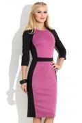 Черно-розовое платье Donna Saggia DSP-106-58t