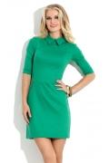 Зеленое платье с воротничком Donna Saggia DSP-116-71t
