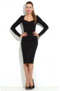 Черное платье-футляр DSP-103-4t