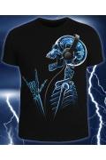 Мужская футболка X-Skeleton (Светится в темноте и уф.)