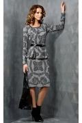 Трикотажное платье с баской TopDesign B3 075