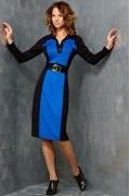 Черно-синее платье TopDesign B3 107
