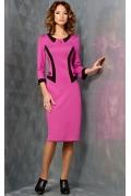 Розовое платье TopDesign B3 136