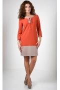 Оранжевое платье Golub П231-2114-2018