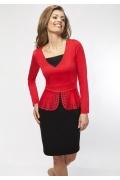Черно-красное платье Enny 16017