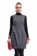 Темно-серое платье без рукавов Zaps Syntia