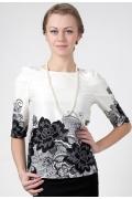 Черно-белая блузка Golub Б832-2245