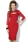 Красное коктейльное платье Donna Saggia DSP-129-29t