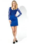 Синее платье с кружевом Donna Saggia DSP-125-37t
