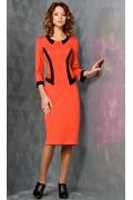 Оранжевое платье TopDesign B3 136