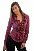 Фиолетовая блузка с жабо | Б620-1002