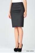 Черная офисная юбка EmkaFashion 320-sia