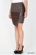 Юбка коричневого цвета Emka Fashion 448-silva