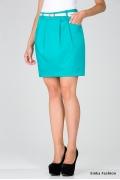 Короткая юбка бирюзового цвета Emka Fashion 451-totsi