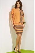 Молодежное трикотажное платье TopDesign A4 032