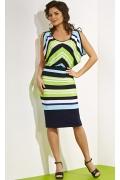 Трикотажное платье в полоску TopDesign A4 059