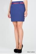 Короткая юбка синего цвета Emka Fashion 453-leida