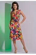 Цветочное летнее платье TopDesign A4 027