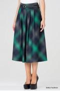 Длинная юбка серо-зеленого цвета Emka Fashion 306-shantel