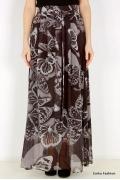 Длинная коричневая юбка Emka Fashion 378-kapella
