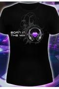Клубная женская футболка Born in the mix