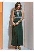 Длинное трикотажное платье TopDesign A4 045