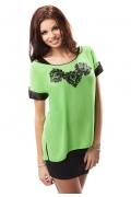 Летняя зеленая блузка Enny 17006
