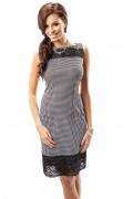 Платье с узором гусиные лапки Enny 17015