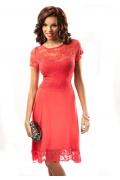 Малиновое платье Enny 17027