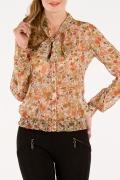 Цветочная блузка из шифона | Б691-1101