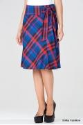 Клетчатая юбка с бантом Emka Fashion 452-darel