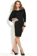 Черное платье с рукавом летучая мышь Donna Saggia DSP-96-4t