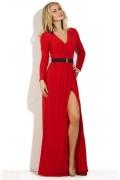 Длинное платье красного цвета Donna Saggia DSP-81-29t