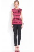Черно-красная летняя блузка Zaps Gloria