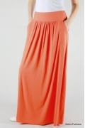 Длинная оранжевая юбка Emka Fashion 309-erin