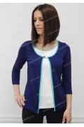 Синяя блузка-обманка Sunwear N03-4
