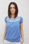 Блузка синего цвета Sunwear N08-3