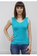 Летняя блузка бирюзового цвета Sunwear N94-3