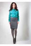 Блузка бирюзового цвета Golub Б932-2226