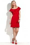 Коктейльное платье красного цвета Donna Saggia DSP-16-56