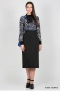 Длинная офисная юбка Emka Fashion 501-kapriz