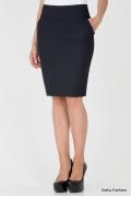 Простая юбка тёмно-синего цвета Emka Fashion 212-sandra