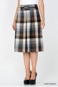 Шерстяная юбка в клетку Emka Fashion 219-70/ilona