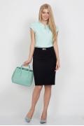 Тёмно-синяя юбка Emka Fashion 441-evdokiya