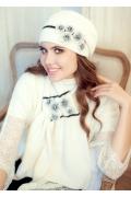 Комплект (берет + шарф) молочного цвета Landre Андреа