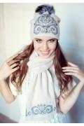 Бежевый комплект (шапка и шарф) Landre Сабина
